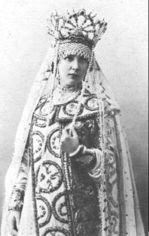 The Tale of Tsar Saltan (opera) - Yelena Tsvetkova as Militrisa (Russian Private Opera, Moscow, 1900)