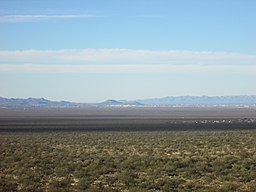 Tumamoc Hill and A Mountain from Huerfano Butte area 2013.jpg