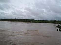 River Tunga during the monsoon