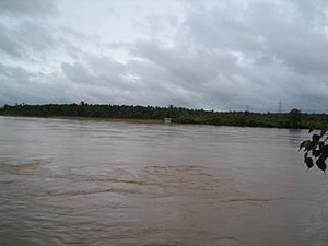 Hosahalli - River Tunga during the monsoon