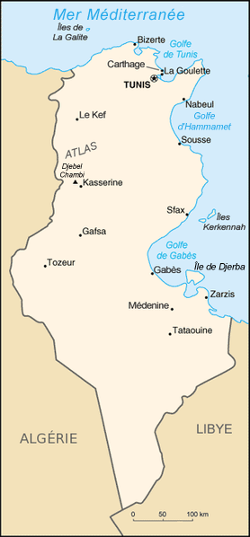 Tunisie carte