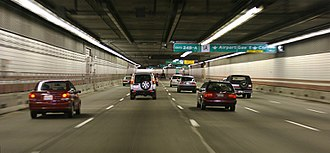 Central Artery - Southbound Interstate 93 beneath the streets of Boston