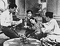 Turino Djunaidy, Tina Melinda, Marlia Hardy, and Tan Tjeng Bok in Rela, Film Varia 2.6 (Jun 1955), p16.jpg