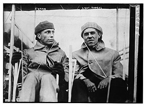 John Rodgers (naval officer, World War I) - John Rodgers on left and aviator J. Clifford Turpin 1912. The men are incorrectly labeled on the photograph and Rodgers's name is misspelled.