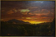 Twilight (Sunset) by Frederic E. Church, 1856, oil on canvas - Albany Institute of History and Art - DSC08132.JPG