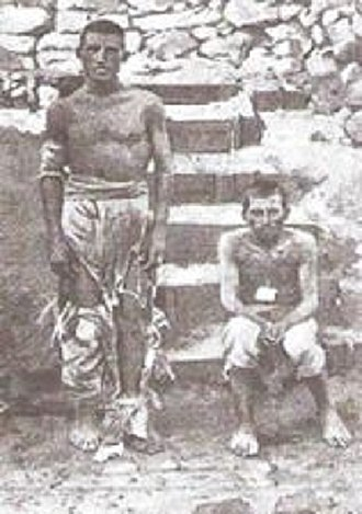 Battle of Adwa - Two Italian soldiers captured and held captive after the Battle of Adwa
