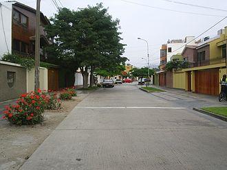 San Borja District - Typical residential street