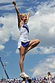 U.S. Air Force Academy Falcons cheerleader Madison Leute performs for the crowd during the Falcons football game against the Idaho state Bengals at Falcon Stadium in Colorado Springs, Colo., Sept 120901-F-WR679-753.jpg