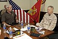 U.S. Marine Corps Gen. James F. Amos, right, the commandant of the Marine Corps, receives a briefing during a tour of Marine Corps Support Facility Blount Island in Jacksonville, Fla., March 20, 2013 130320-M-LU710-013.jpg