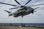 U.S. Marines fast rope from CH-53E Super Stallion at Sea 150617-M-SV584-087.jpg