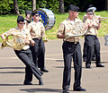 U.S. Navy Musician Seaman Alexis Thompson, left, with the U.S. Naval Forces Europe Band, dances during rehearsals for the Royal Edinburgh Military Tattoo in Edinburgh, Scotland, July 31, 2012 120731-N-VT117-1359.jpg