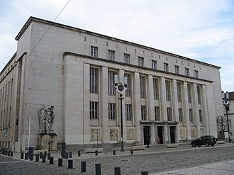 Estado Novo (Portugal) - The University of Coimbra General Library main building – Edifício Novo (New Building, 1962) in the Alta Universitária, Coimbra.