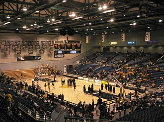 UC Irvine Anteaters - Basketball court of the Bren Events Center before a game