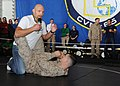 UFC fighter Keith Jardine demonstrates grappling moves.jpg