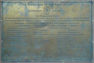 University Hospital Lewisham - Image: UHL Foundation Plaque
