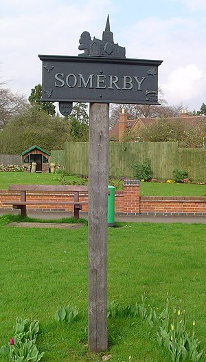 Somerby, Leicestershire - Signpost in Somerby