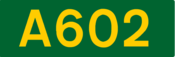 A602 road shield