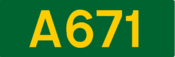 A671 road shield