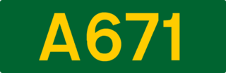 A671 road road in England