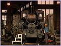 UMEKOJI STEAM LOCOMOTIVE MUSEUM ROUNDHOUSE KYOTO JAPAN JUNE 2012 (7471400232).jpg