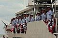USCGC Bernard C. Webber crew salutes the commissioning party -- 120414-G-ZE884-198.jpg
