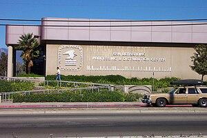 POSTNET - San Bernardino USPS facility with valid and correct barcode on building