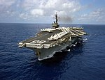 USS America (CV-66) aerial port view 1983.jpg