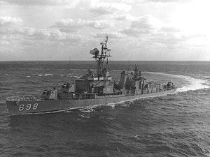 USS Ault - Ault in January 1965, just before her first Vietnam deployment.