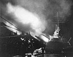 USS Columbia (CL-56) shelling Japanese facilities in the Shortlands on 1 November 1943.jpg