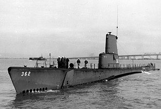 USS Guavina - In 1951 Guavina (SS-362) was equipped with an experimental searchlight sonar.