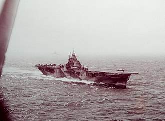 USS Intrepid (CV-11) - Intrepid launching an aircraft during the Battle of Leyte Gulf