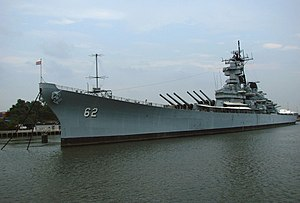 Battleship New Jersey Museum and Memorial - The USS ''New Jersey'' in Camden, July 2008