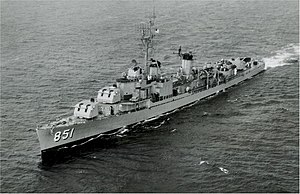 USS Rupertus (DD-851) underway in 1958