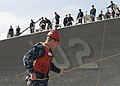 USS Sampson arrives at NWS Seal Beach. (9301690952).jpg