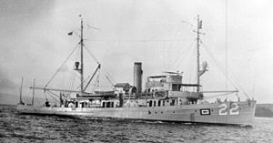 USS Widgeon (AM-22) - Image: USS Widgeon (AM 22)