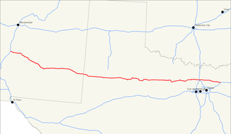 U.S. Route 380 - Image: US 380 map