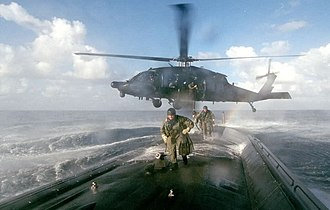 160th Special Operations Aviation Regiment (Airborne) - A MH-60L from the 160th SOAR deploys a Scuba ODA from 7th SFG(A) onto a U.S. submarine for a covert infiltration exercise