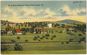 Smithsonian Conservation Biology Institute - Mid-20th century postcard showing the U.S. Army Remount Depot near Front Royal, today the home of the Smithsonian Conservation Biology Institute.