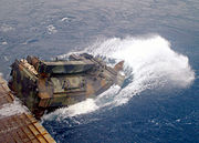 US Navy 020912-N-8087H-005 AAV launches from the well deck