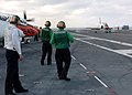 US Navy 060125-N-7359L-003 A T-45C Goshawk, makes an arrested landing aboard the Nimitz-class aircraft carrier USS Dwight D. Eisenhower (CVN 69).jpg