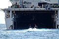 US Navy 060517-N-4772B-177 An Amphibious Assault Vehicle (AAV) assigned to the 31st Marine Expeditionary Unit (MEU) enters the well deck of the amphibious dock landing ship USS Harpers Ferry (LSD 49).jpg