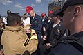 US Navy 070211-N-8534H-010 Sailors stationed aboard the guided-missile frigate USS Gary (FFG 51) demonstrate damage control procedures to Royal Cambodian Navy Sailors on the flight deck of Gary.jpg