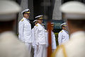 US Navy 070618-N-0696M-142 Chief of Naval Operations (CNO) Adm. Mike Mullen inspects sailors of the Japan Maritime Self Defense Force (JMSDF).jpg