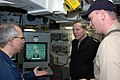 US Navy 080109-N-1655H-008 Capt. Matthew Sharpe, Commanding Officer, USS San Jacinto (CG 56) explains upgrades made to San Jacinto to Adm. Mark Fitzgerald, Commander, Naval Forces Europe while he toured the guided missile cruis.jpg