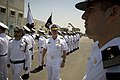 US Navy 080621-N-8273J-095 Sailors from the Israel Navy render honors to Chief of Naval Operations (CNO) Adm. Gary Roughead prior to getting underway with Eilat-class corvette INS Lavhav (SAAR 502).jpg