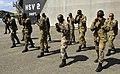 US Navy 100510-N-9643W-552 Members of the Jamaica Defense Force participate in the practical portion of the Marine Corps Martial Arts exchange with U.S. Marine Corps personnel embarked aboard Swift (HSV 2).jpg