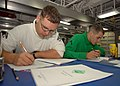 US Navy 101027-N-5684M-005 Cpl. Travis Drake, from Perry County, Ind., left, and Pfc. Michael Scott, from Painter, Va.jpg