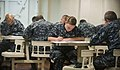 US Navy 110901-N-PB383-067 Sailors assigned to the amphibious transport dock ship USS New Orleans (LPD 18) take the Navy-wide E-6 advancement exam.jpg