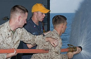 US Navy 120104-N-DX615-041 Marines practice proper hose handling techniques.jpg