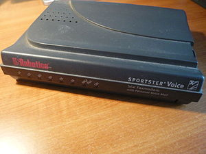 Front side of US Robotics 56K Modem